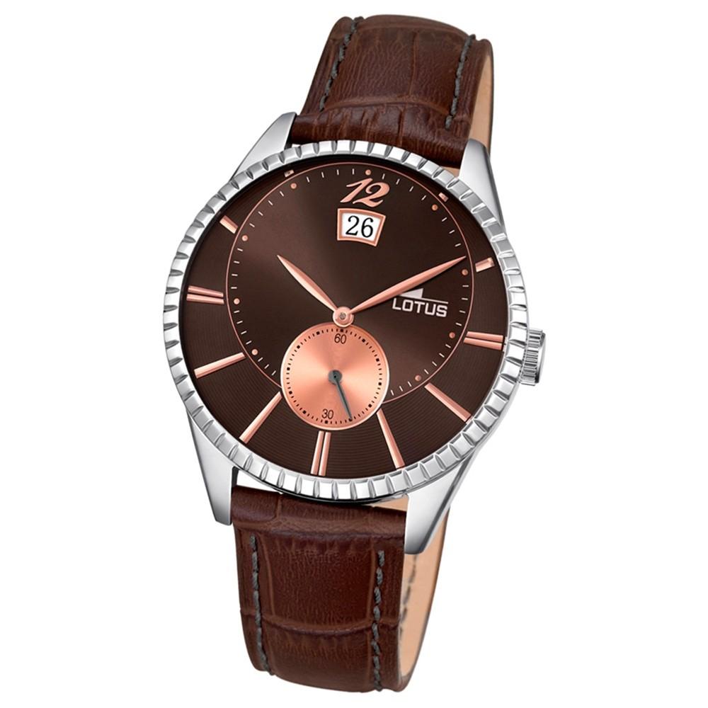 LOTUS Herren-Armbanduhr Analog Quarz Leder braun UL18322/5