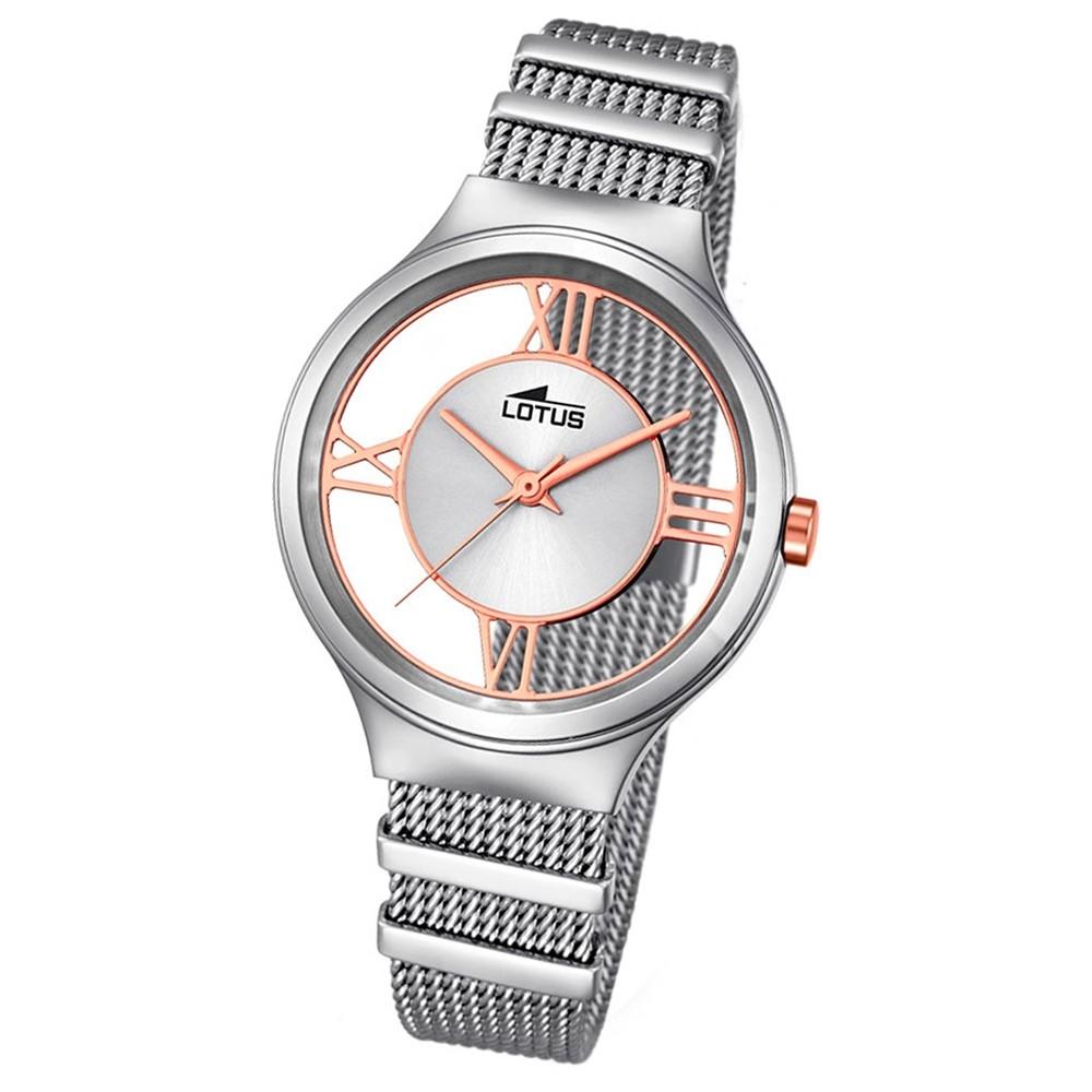 LOTUS Damen-Armbanduhr Fashion Analog Quarz-Uhr Edelstahl silber UL18331/1