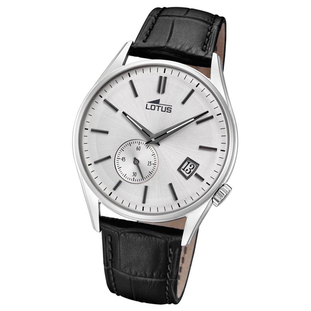 Lotus Herren-Armbanduhr Leder schwarz 18355/1 Quarz Retro UL18355/1