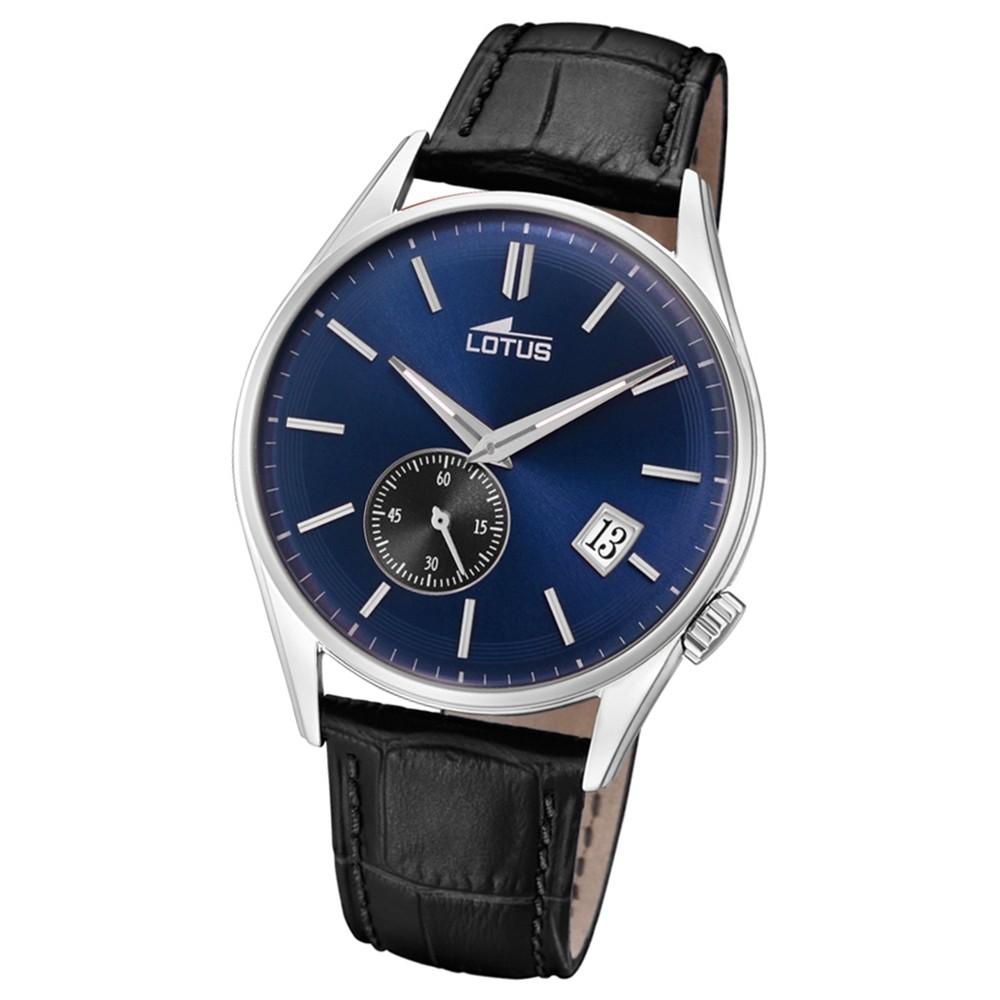 Lotus Herren-Armbanduhr Leder schwarz 18355/2 Quarz Retro UL18355/2