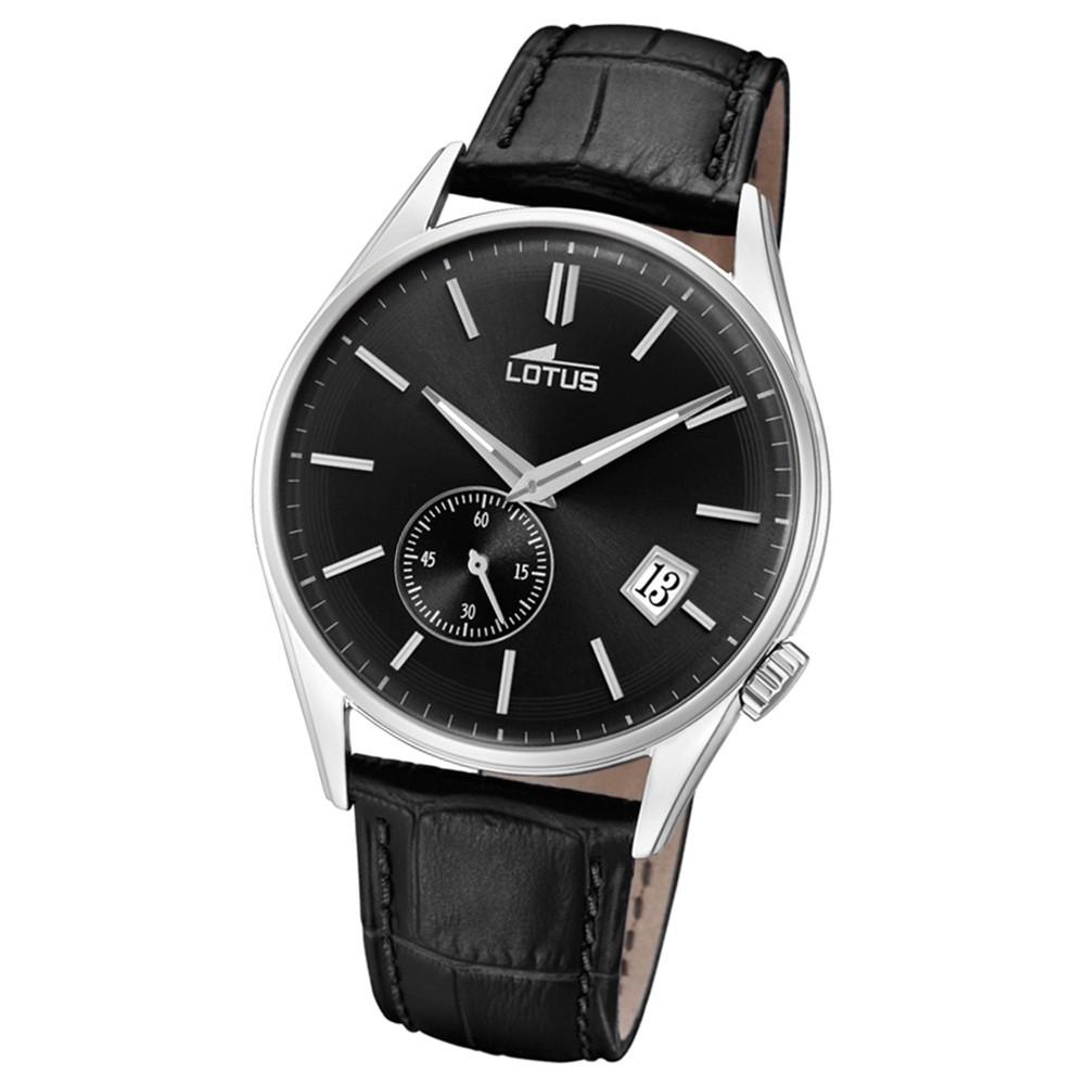 Lotus Herren-Armbanduhr Leder schwarz 18355/3 Quarz Retro UL18355/3
