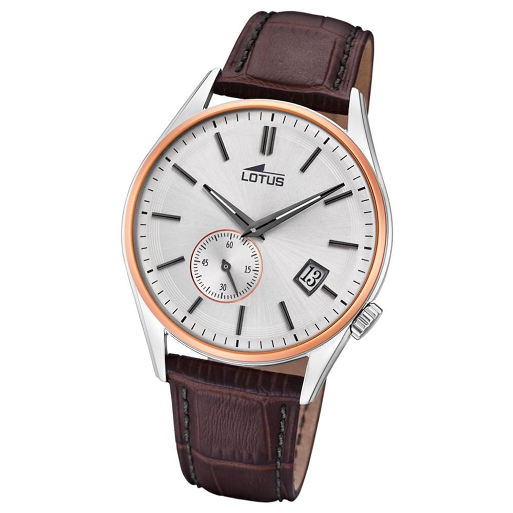 Lotus Herren-Armbanduhr Leder braun 18356/1 Quarz Retro UL18356/1