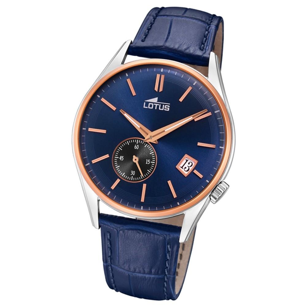 Lotus Herren-Armbanduhr Leder blau 18356/2 Quarz Retro UL18356/2