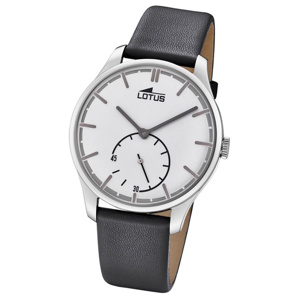 Lotus Herren-Armbanduhr Leder grau 18357/1 Quarz Retro UL18357/1
