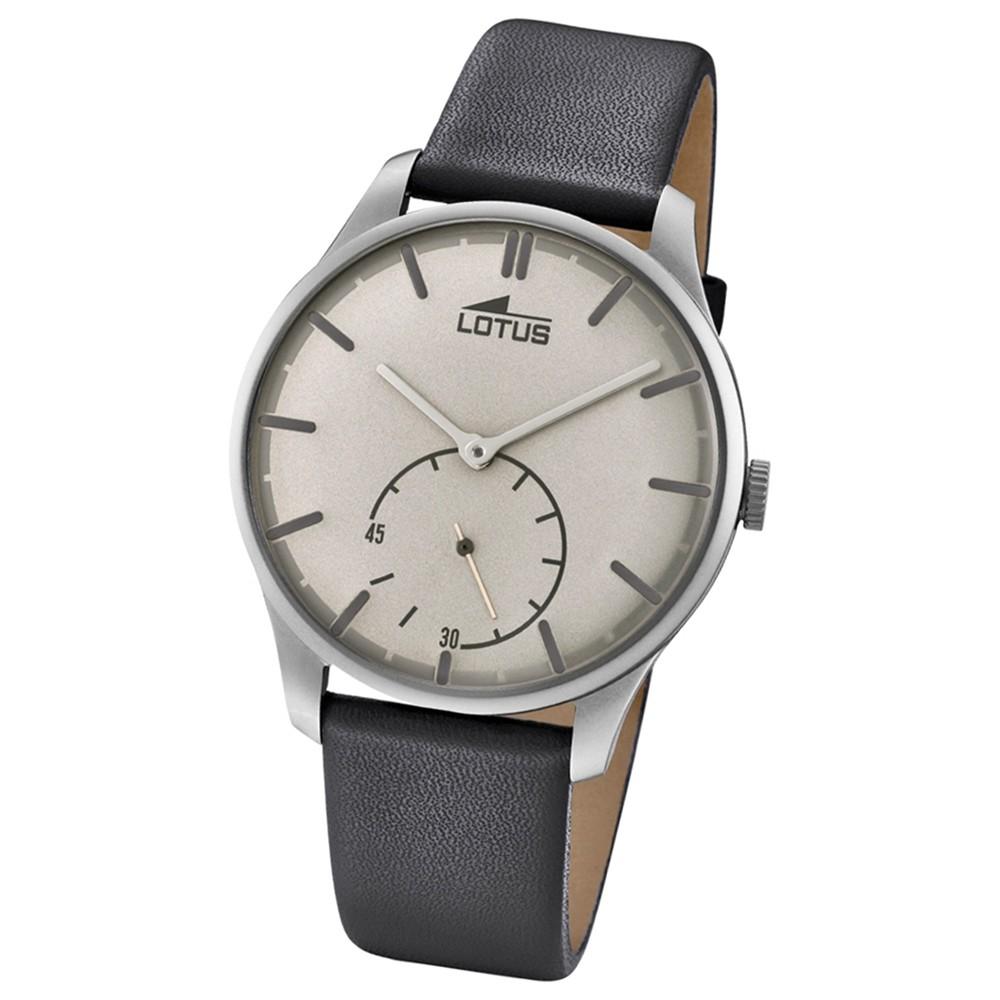Lotus Herren-Armbanduhr Leder schwarz 18358/1 Quarz Retro UL18358/1