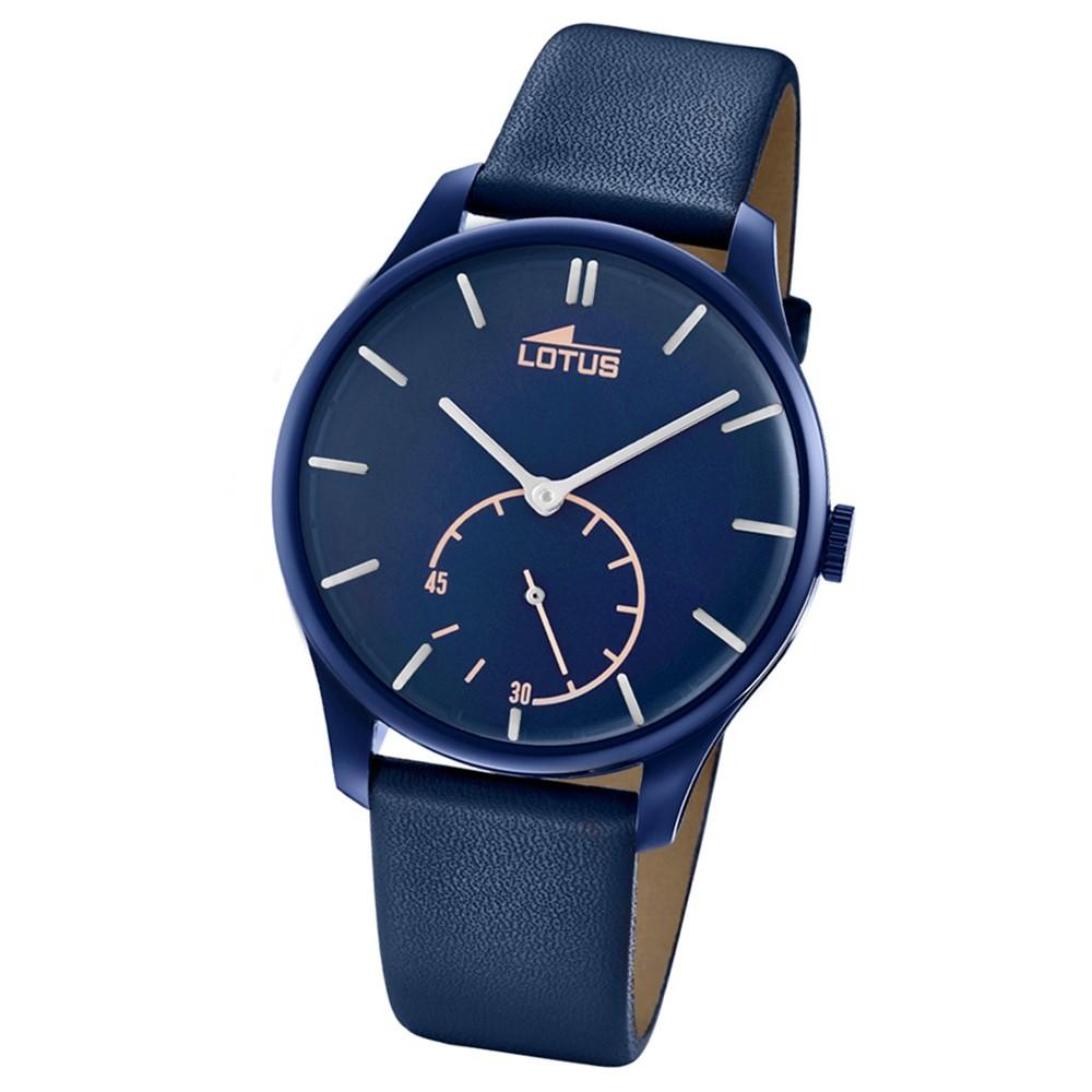 Lotus Herren-Armbanduhr Leder blau 18359/1 Quarz Retro UL18359/1