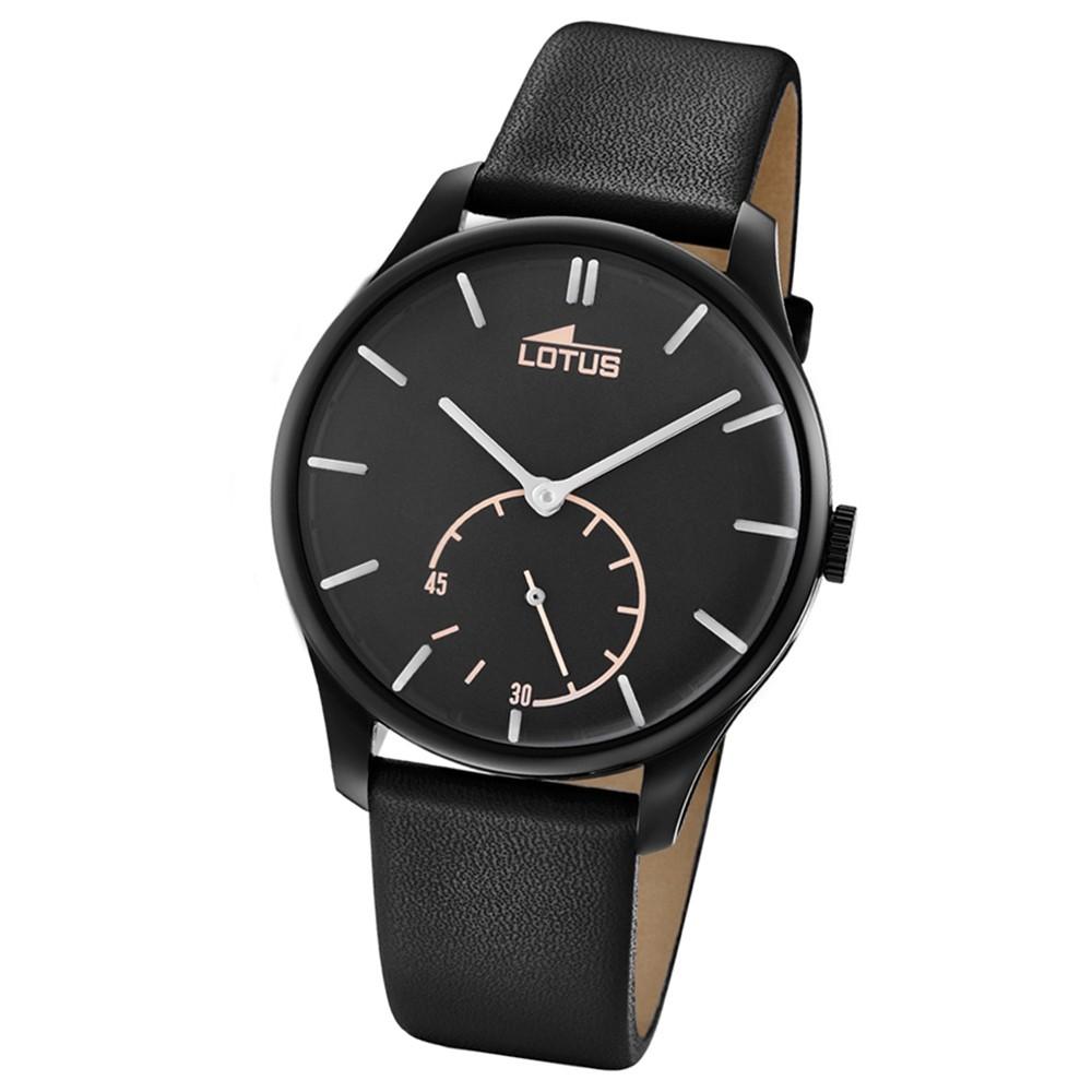 Lotus Herren-Armbanduhr Leder schwarz 18360/1 Quarz Retro UL18360/1