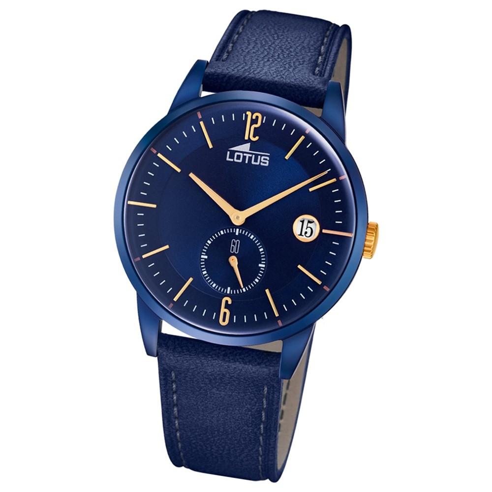 Lotus Herren-Armbanduhr Leder blau 18362/1 Quarz Retro UL18362/1
