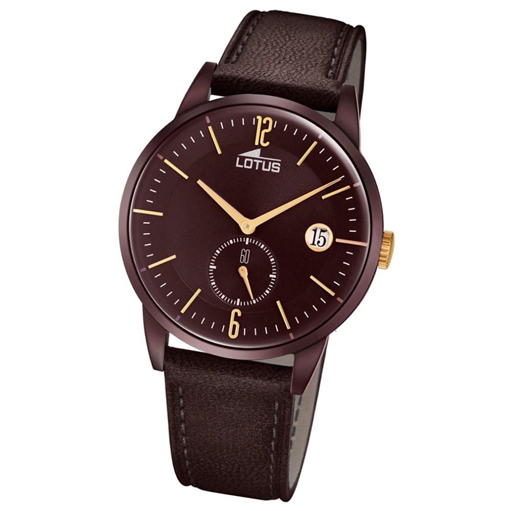 Lotus Herren-Armbanduhr Leder braun 18363/1 Quarz Retro UL18363/1
