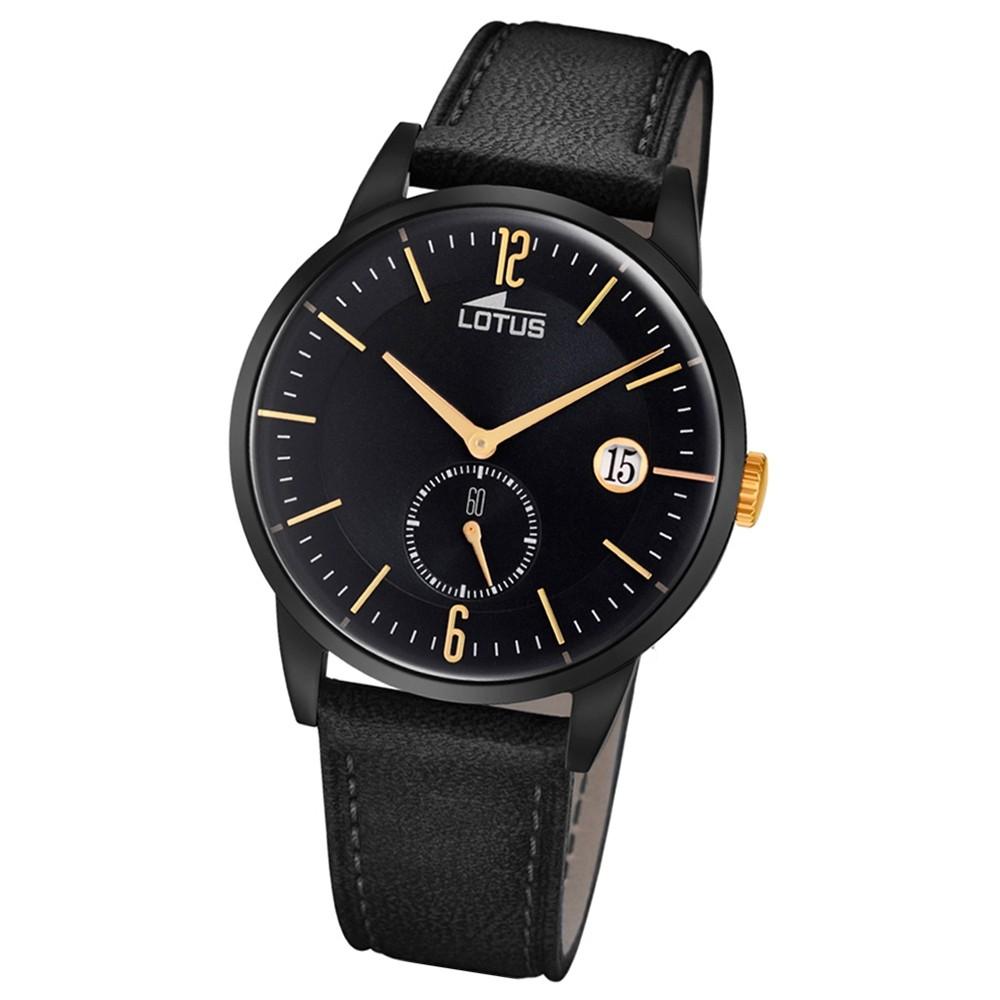 Lotus Herren-Armbanduhr Leder schwarz 18364/1 Quarz Retro UL18364/1