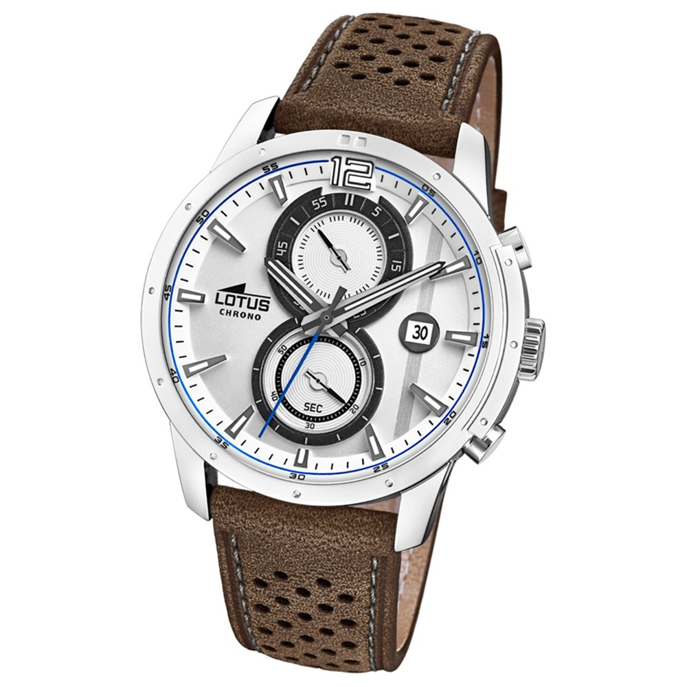 Lotus Herren-Armbanduhr Leder braun 18366/1 Quarz Khrono UL18366/1