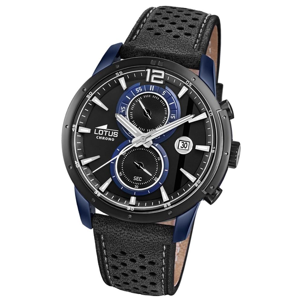 Lotus Herren-Armbanduhr Leder schwarz 18367/2 Quarz Khrono UL18367/2