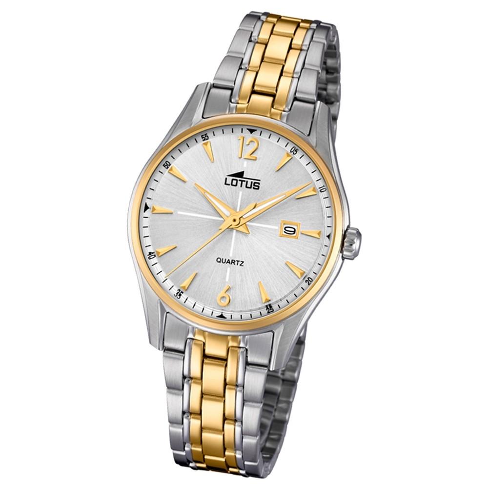 Lotus Damen-Armbanduhr Edelstahl silber gold 18378/1 Quarz Classic UL18378/1