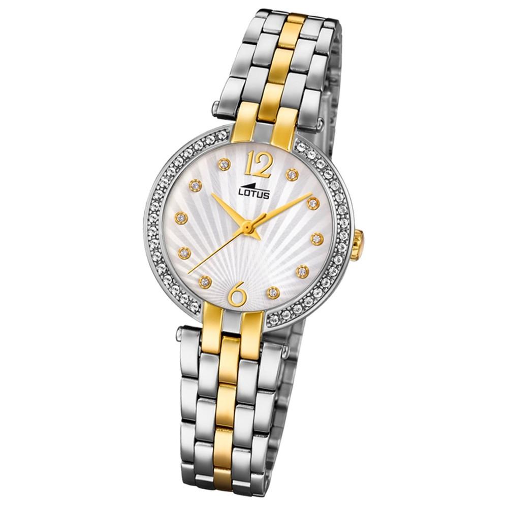 Lotus Damen-Armbanduhr Edelstahl silber gold 18380/1 Quarz Grace UL18380/1