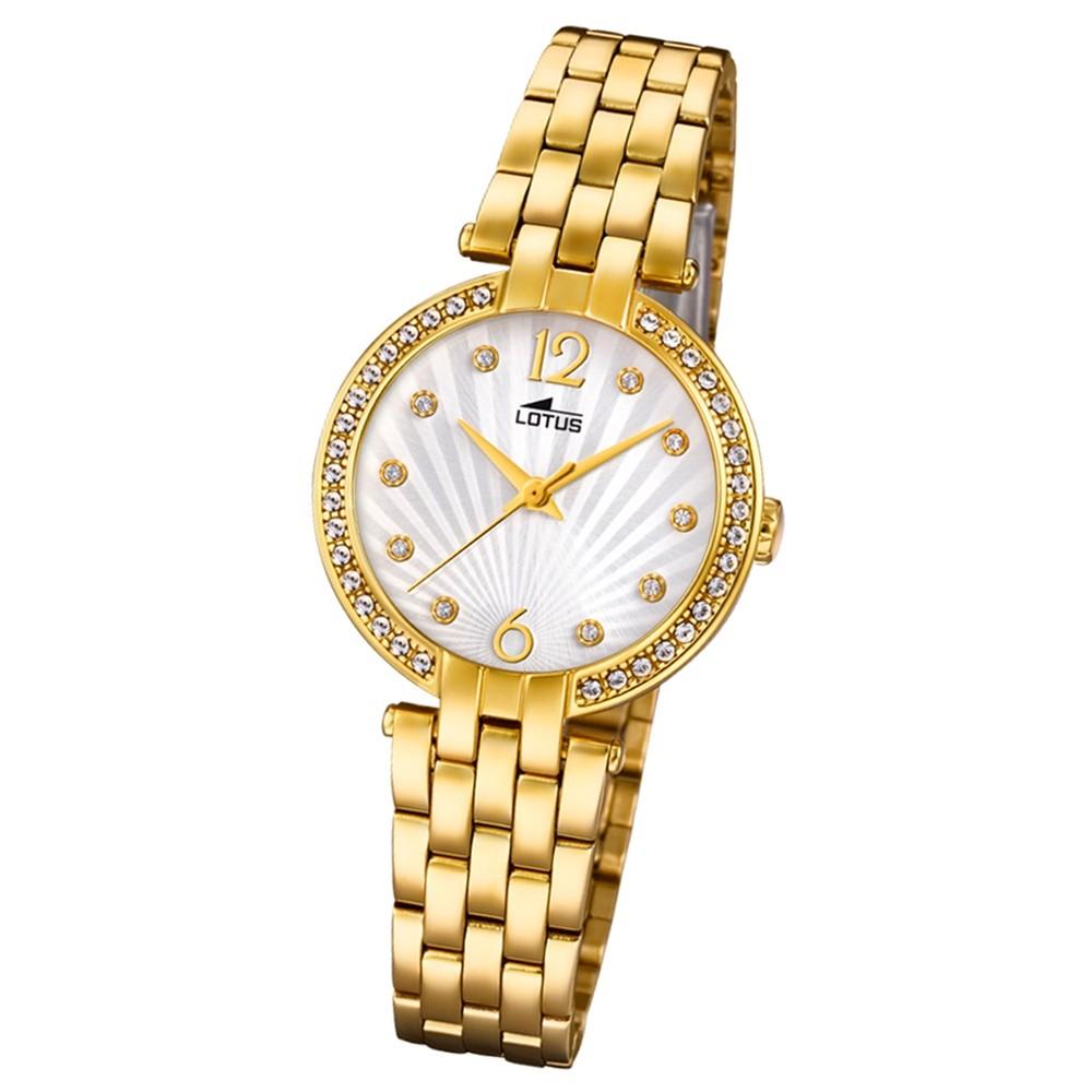 Lotus Damen-Armbanduhr Edelstahl gold 18381/1 Quarz Grace UL18381/1