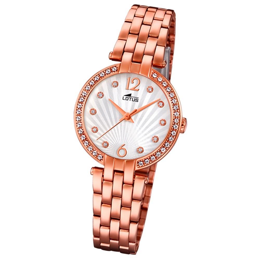 Lotus Damen-Armbanduhr Edelstahl roségold 18382/1 Quarz Grace UL18382/1