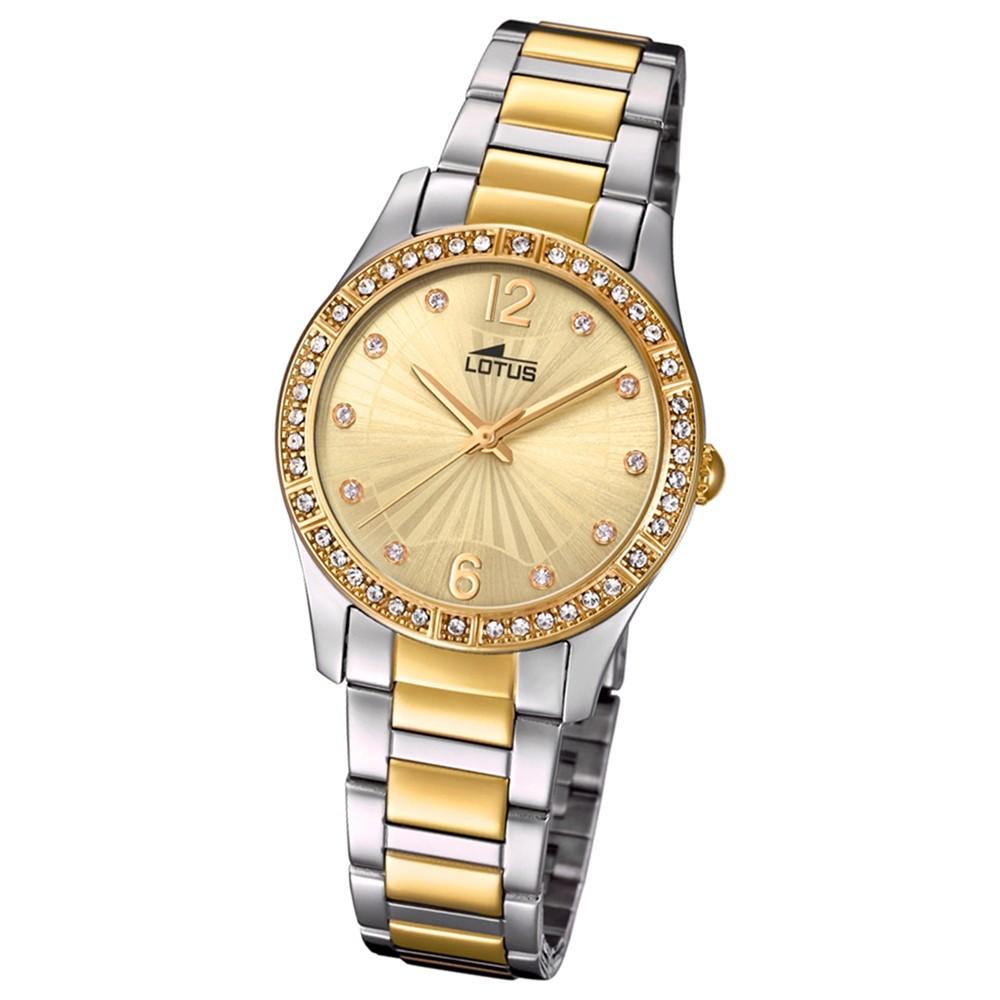 Lotus Damen-Armbanduhr Edelstahl silber gold 18384/1 Quarz Grace UL18384/1
