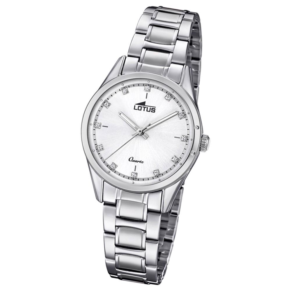 Lotus Damen-Armbanduhr Edelstahl silber 18385/1 Quarz Grace UL18385/1