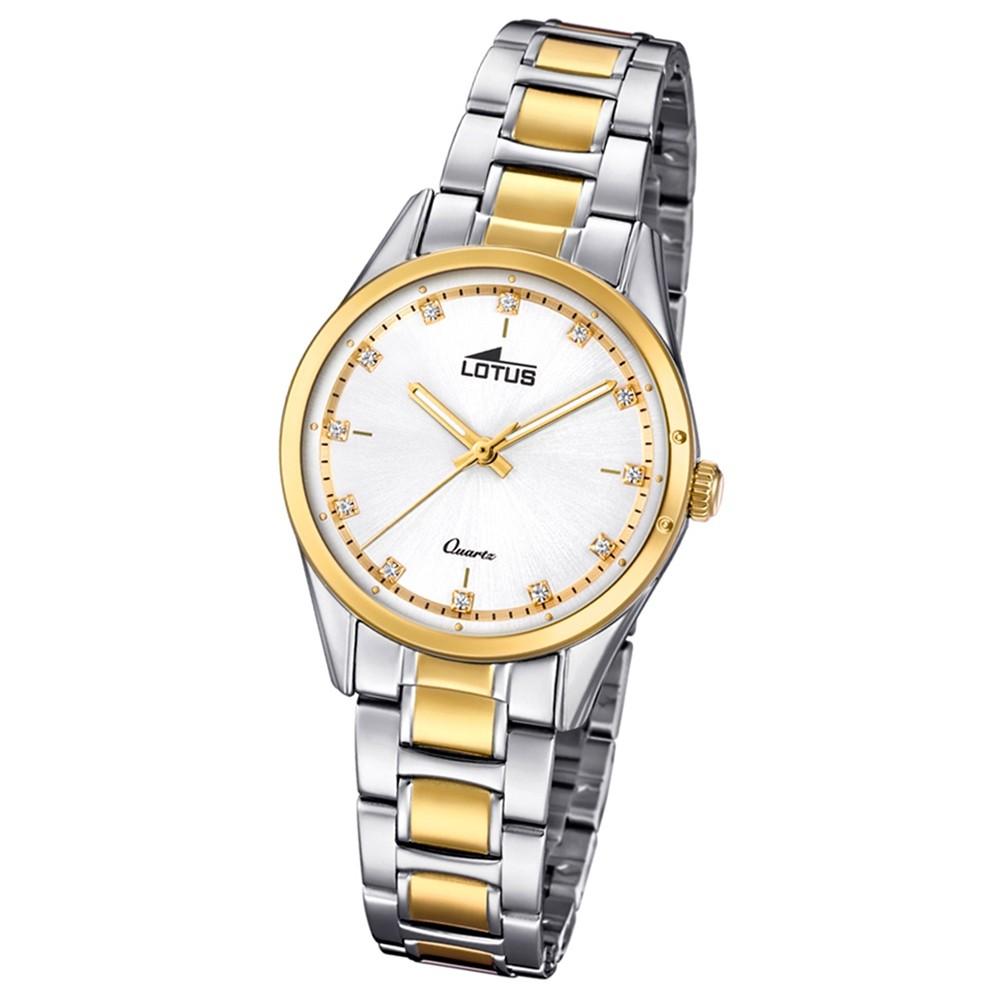 Lotus Damen-Armbanduhr Edelstahl silber gold 18386/1 Quarz Grace UL18386/1