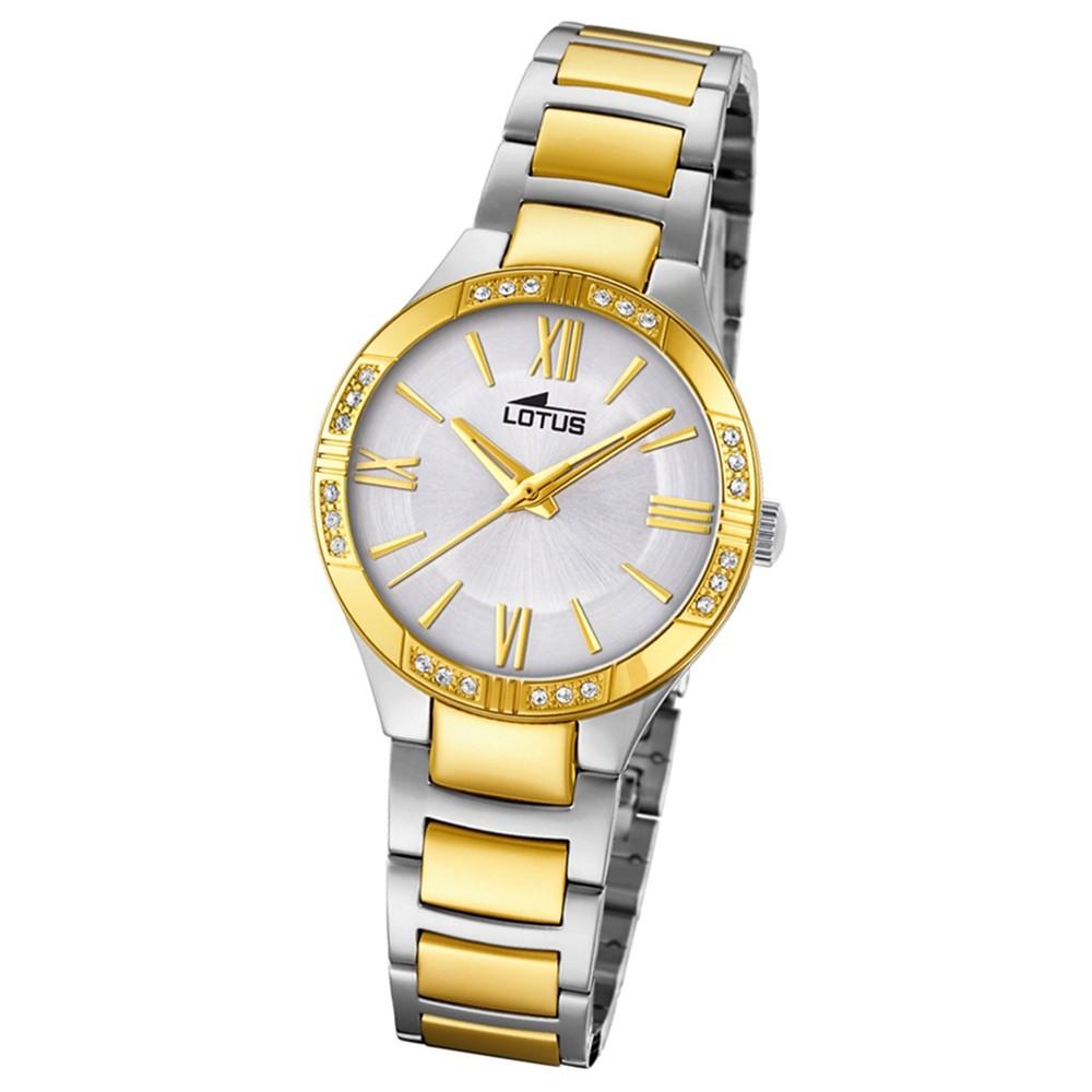 Lotus Damen-Armbanduhr Edelstahl silber gold 18388/1 Quarz Grace UL18388/1