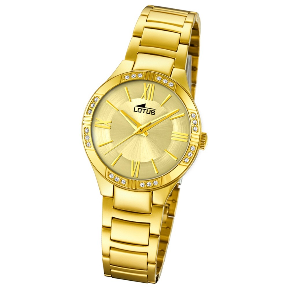Lotus Damen-Armbanduhr Edelstahl gold 18389/1 Quarz Grace UL18389/1