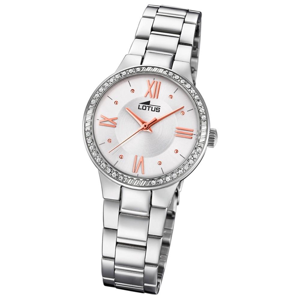 Lotus Damen-Armbanduhr Edelstahl silber 18391/1 Quarz Grace UL18391/1