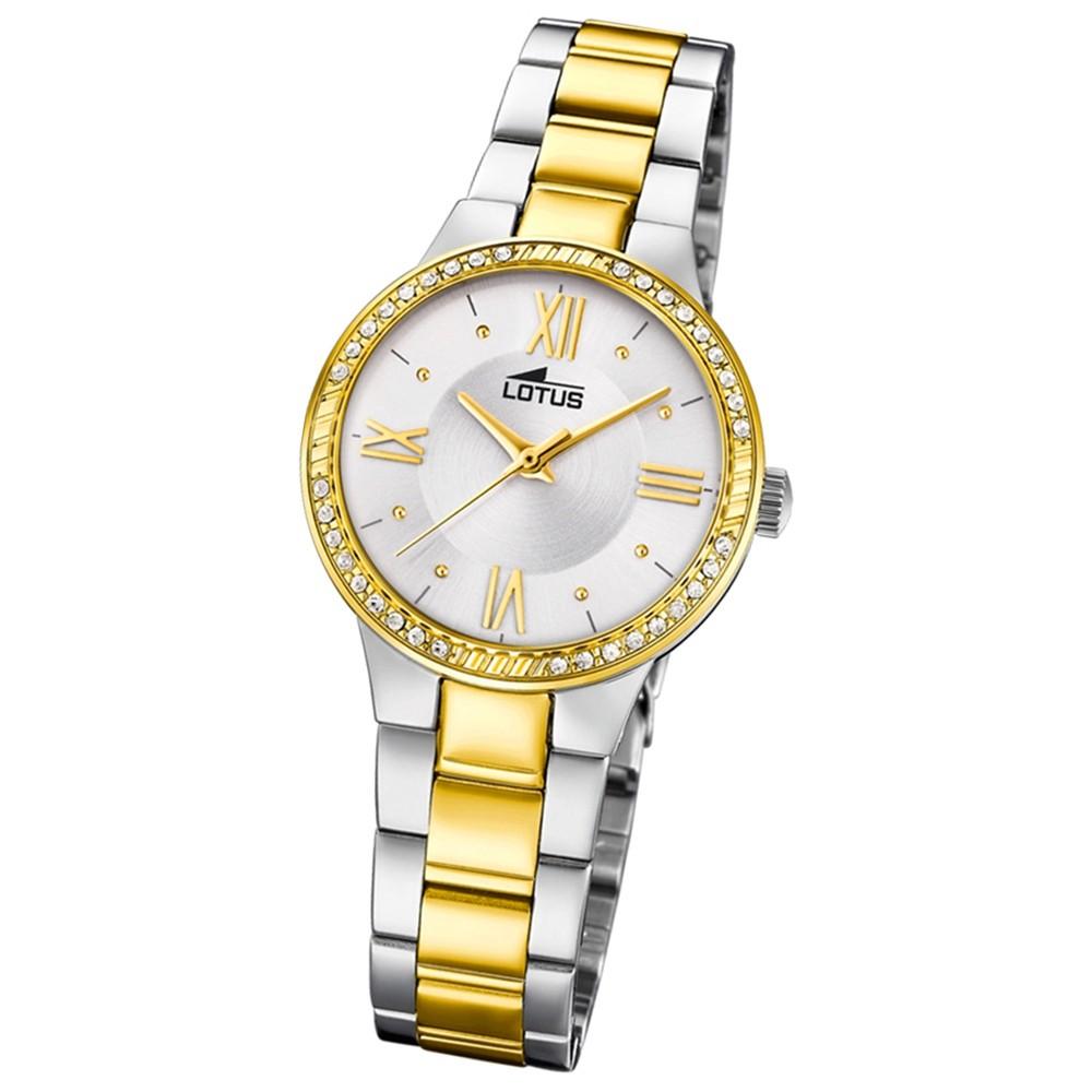 Lotus Damen-Armbanduhr Edelstahl silber gold 18392/1 Quarz Grace UL18392/1