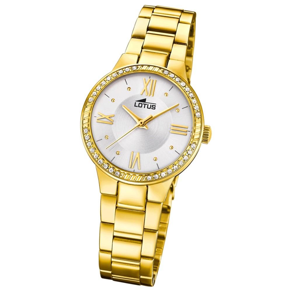 Lotus Damen-Armbanduhr Edelstahl gold 18393/1 Quarz Grace UL18393/1
