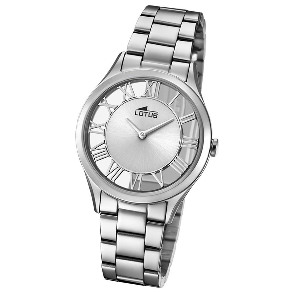 Lotus Damen-Armbanduhr Edelstahl silber 18395/1 Quarz Trendy UL18395/1