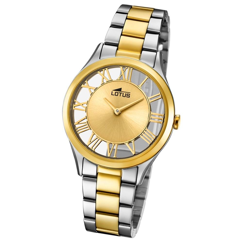 Lotus Damen-Armbanduhr Edelstahl silber gold 18396/1 Quarz Trendy UL18396/1