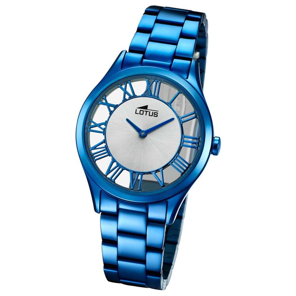 Lotus Damen-Armbanduhr Edelstahl blau 18397/1 Quarz Trendy UL18397/1