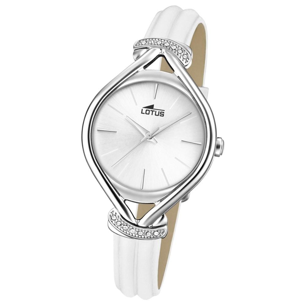Lotus Damen-Armbanduhr Leder weiß 18399/1 Quarz Grace UL18399/1