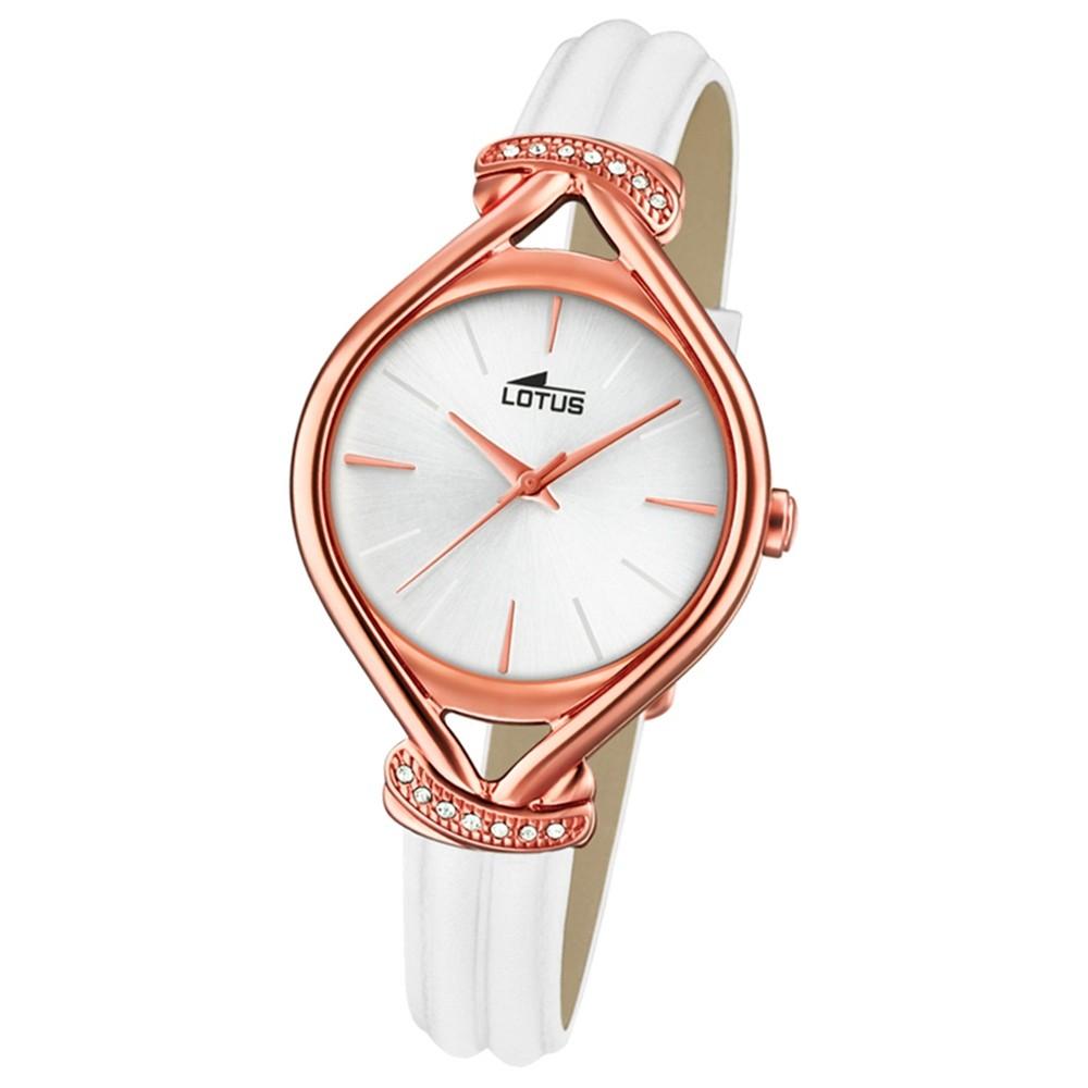 Lotus Damen-Armbanduhr Leder weiß 18400/1 Quarz Grace UL18400/1