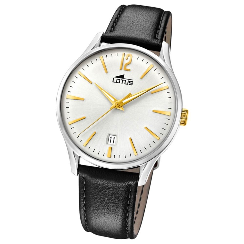 Lotus Herren-Armbanduhr Leder schwarz 18402/1 Quarz Revival UL18402/1