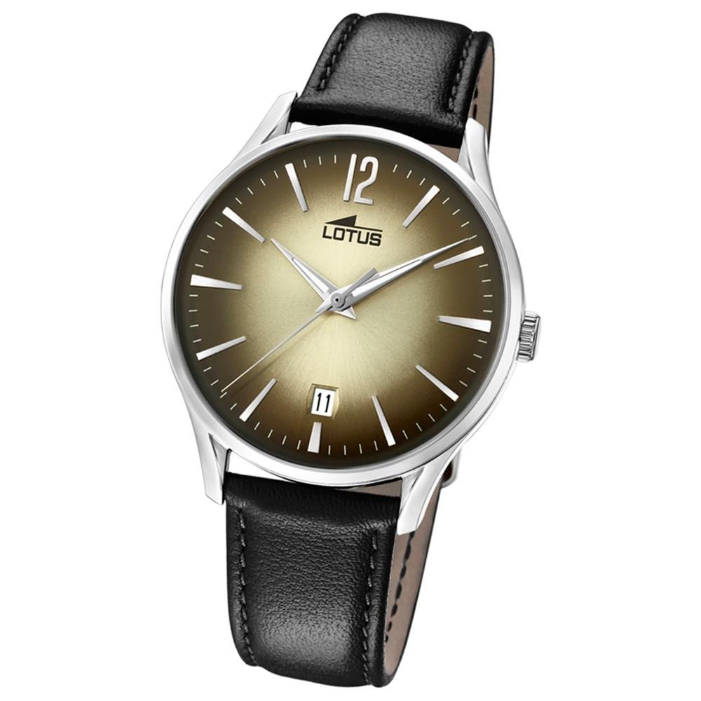 Lotus Herren-Armbanduhr Leder schwarz 18402/2 Quarz Revival UL18402/2