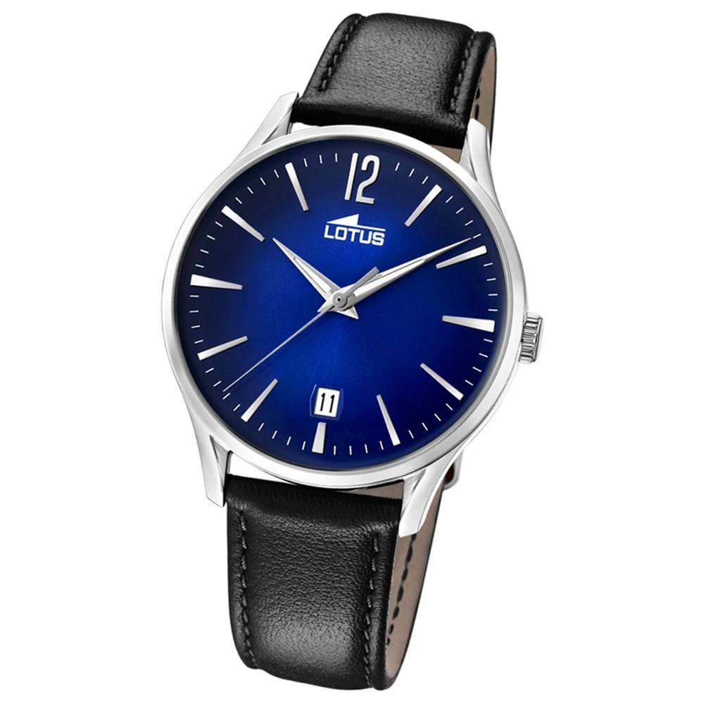 Lotus Herren-Armbanduhr Leder schwarz 18402/3 Quarz Revival UL18402/3