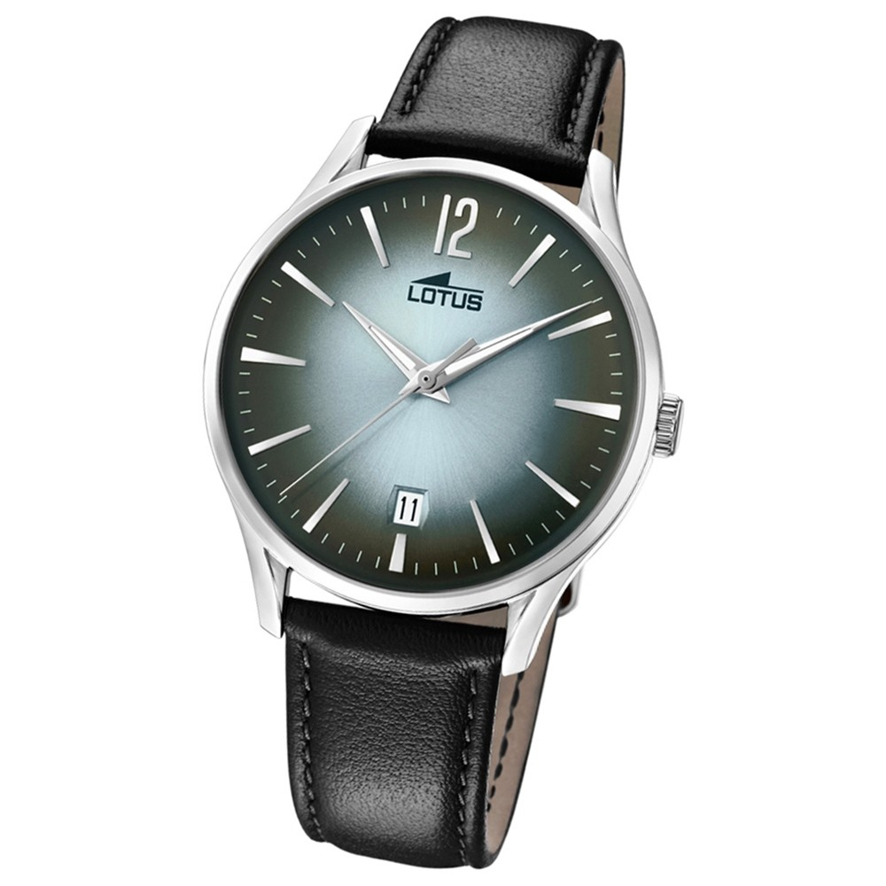 Lotus Herren-Armbanduhr Leder schwarz 18402/4 Quarz Revival UL18402/4