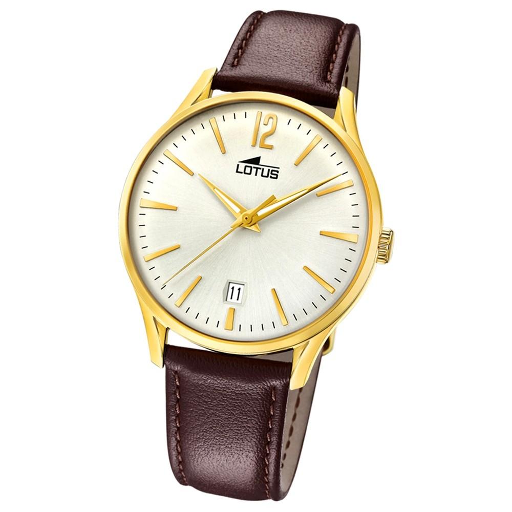Lotus Herren-Armbanduhr Leder braun 18403/1 Quarz Revival UL18403/1