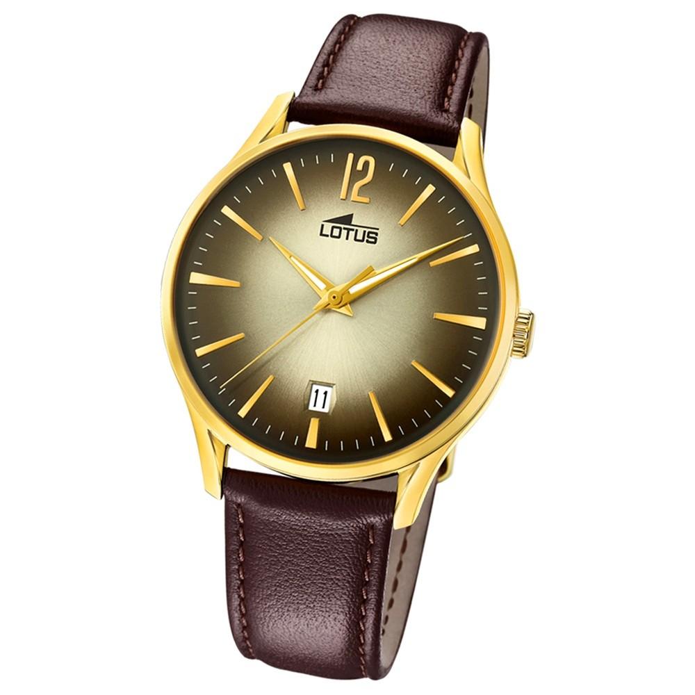 Lotus Herren-Armbanduhr Leder braun 18403/2 Quarz Revival UL18403/2