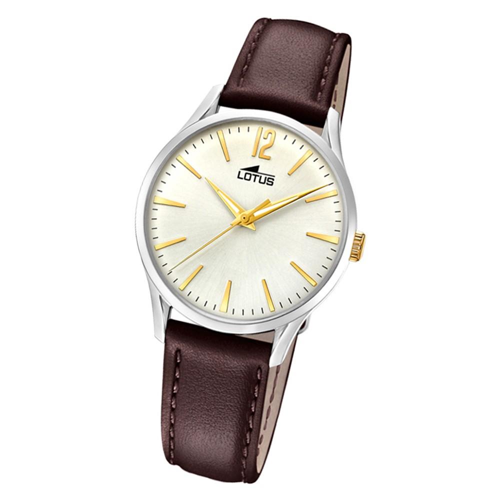 Lotus Damen-Armbanduhr Leder braun 18406/1 Quarz Revival UL18406/1