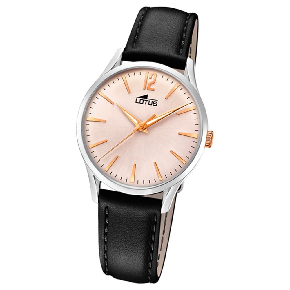 Lotus Damen-Armbanduhr Leder schwarz 18406/4 Quarz Revival UL18406/4