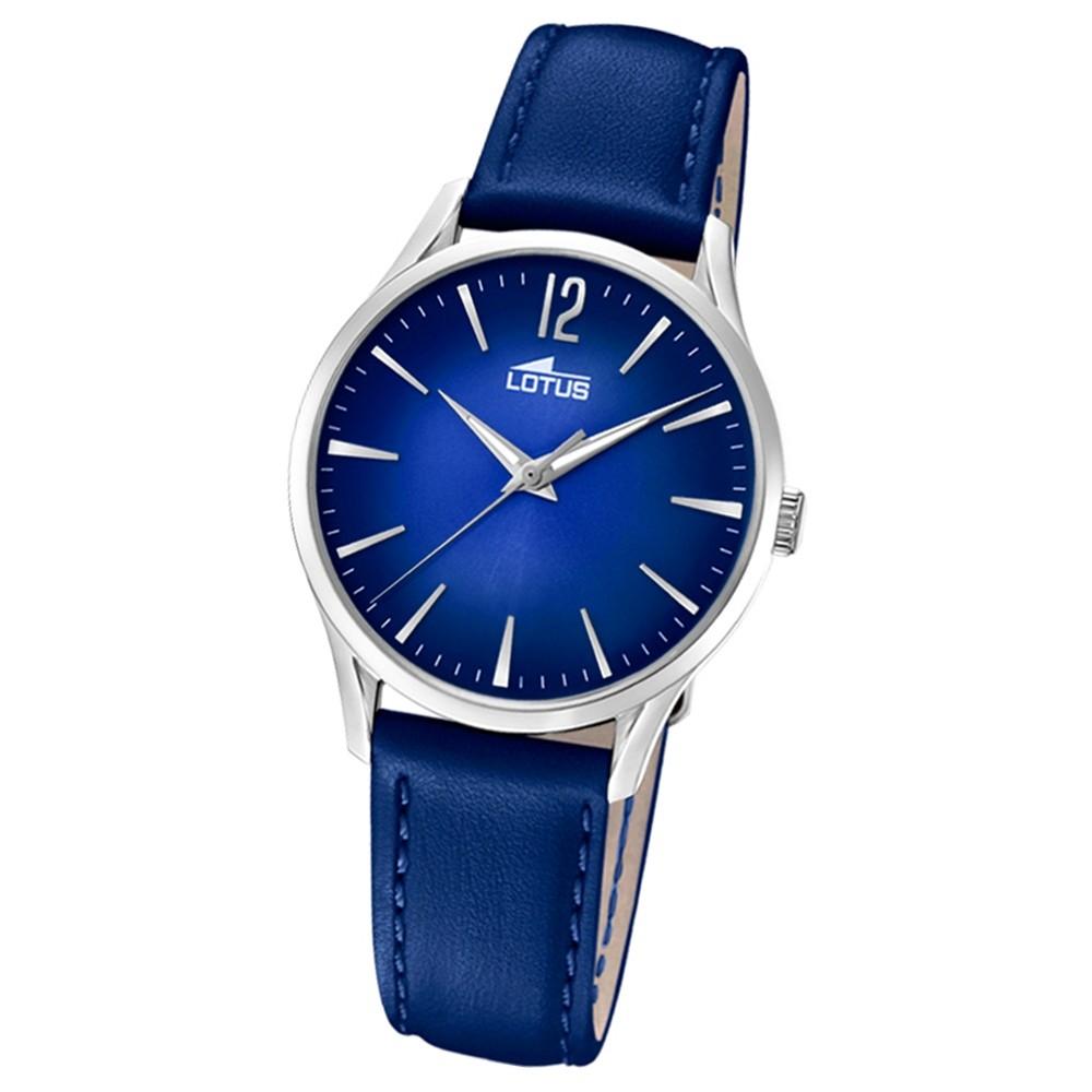 Lotus Damen-Armbanduhr Leder blau 18406/5 Quarz Revival UL18406/5