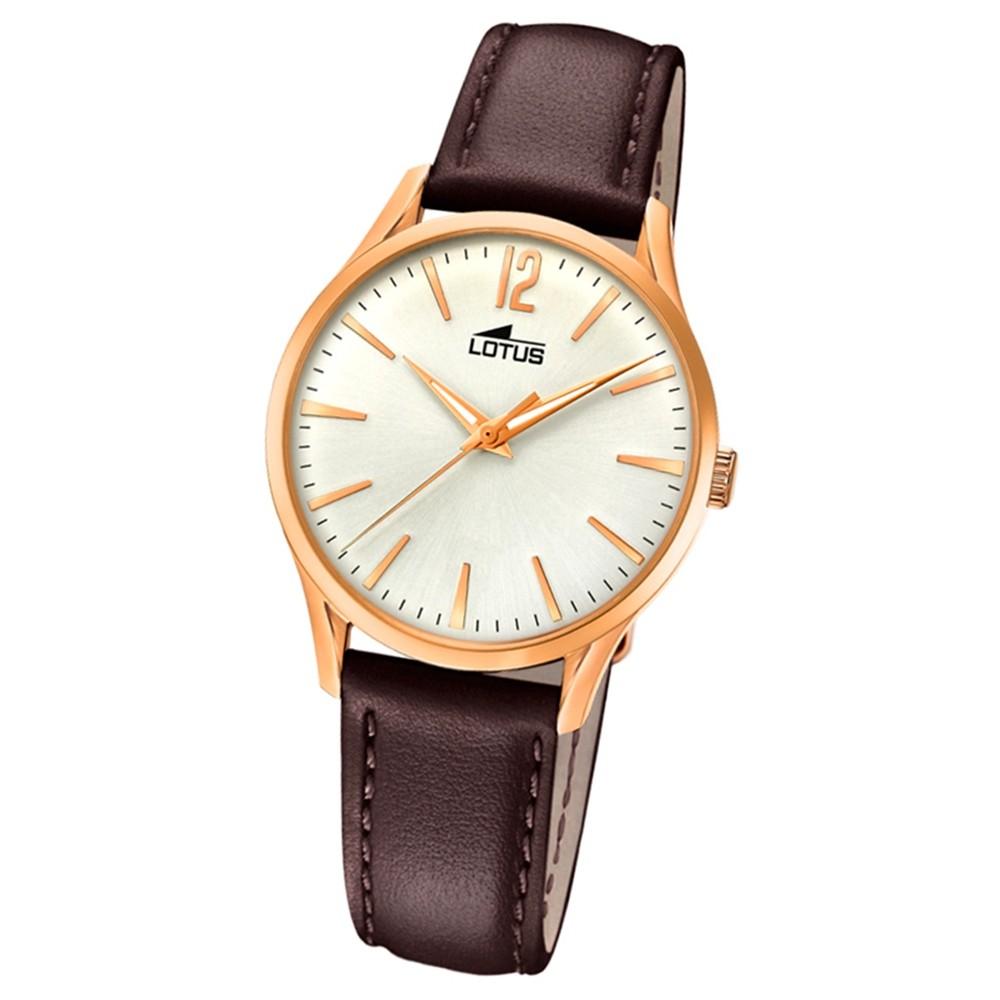 Lotus Damen-Armbanduhr Leder braun 18407/1 Quarz Revival UL18407/1