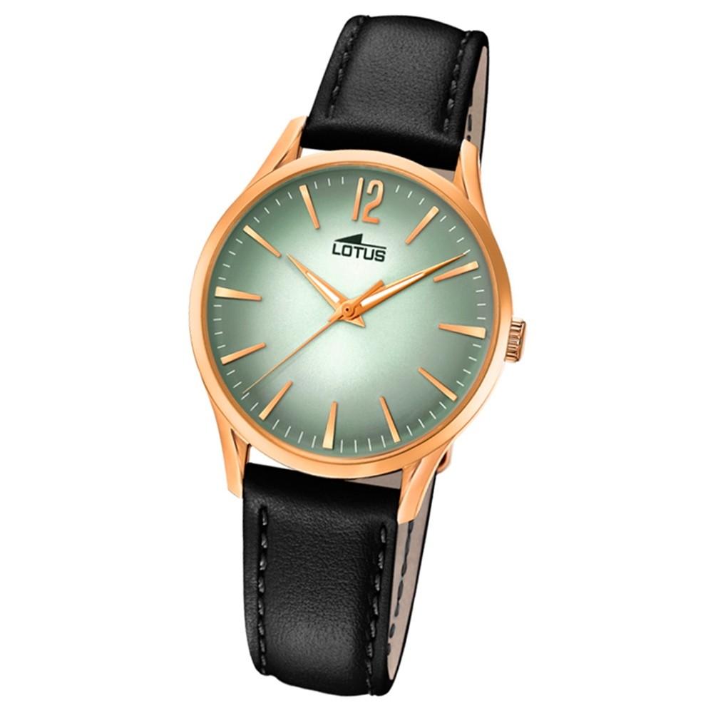 Lotus Damen-Armbanduhr Leder schwarz 18407/5 Quarz Revival UL18407/5