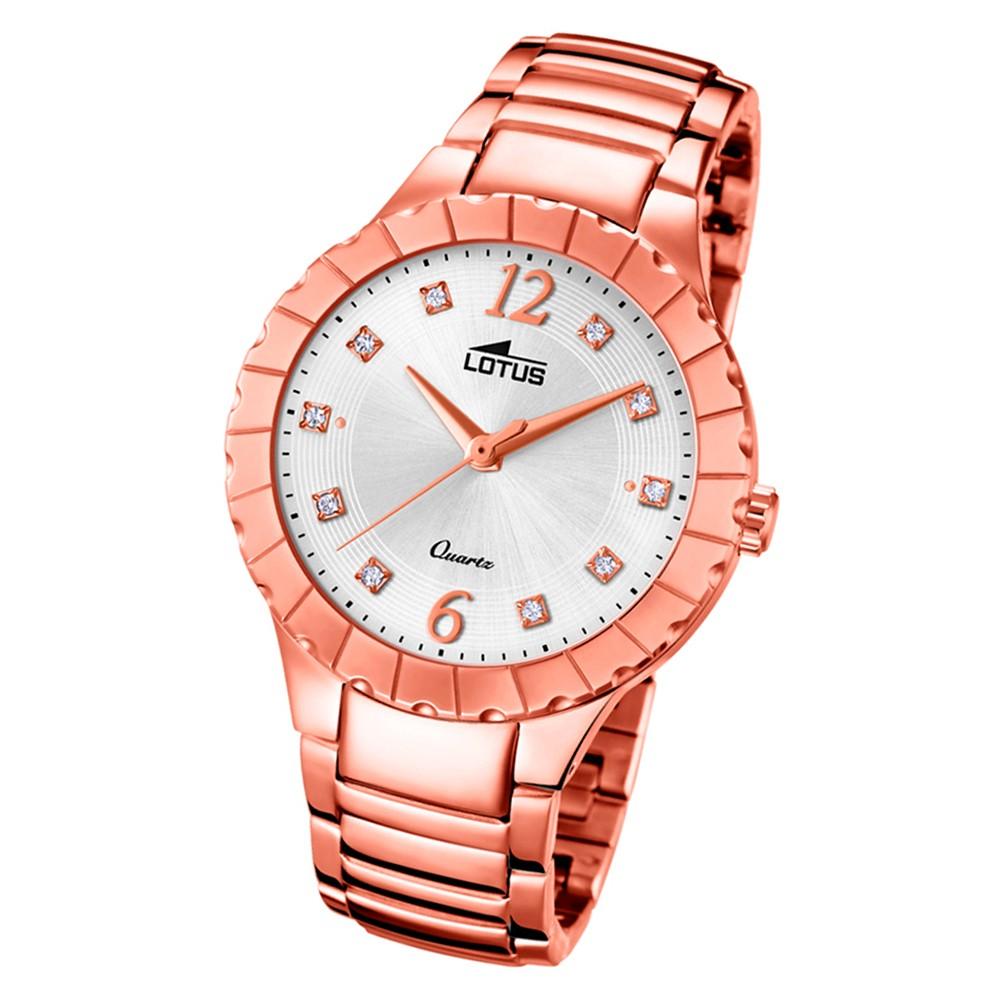 Lotus Damen-Armbanduhr Edelstahl rosé 18412/1 Quarz Trendy UL18412/1