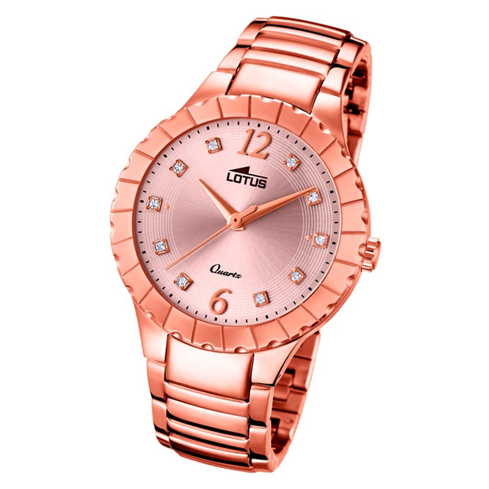 Lotus Damen-Armbanduhr Edelstahl rosé 18412/2 Quarz Trendy UL18412/2