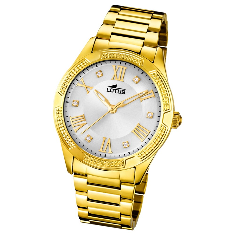 Lotus Damen-Armbanduhr Edelstahl gold 18414/1 Quarz Trendy UL18414/1
