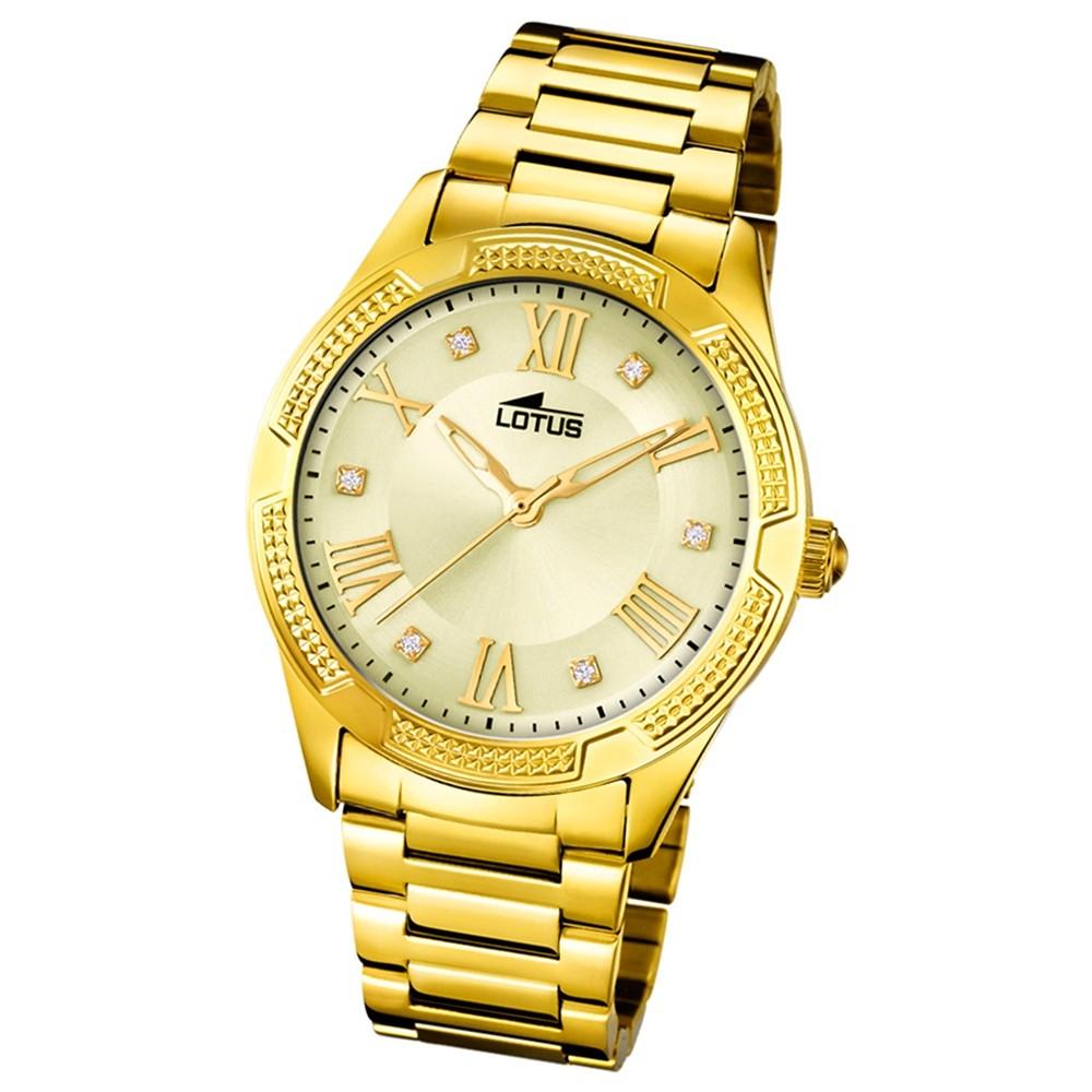 Lotus Damen-Armbanduhr Edelstahl gold 18414/2 Quarz Trendy UL18414/2