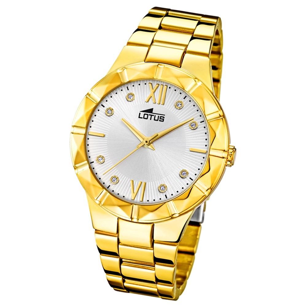 Lotus Damen-Armbanduhr Edelstahl gold 18417/1 Quarz Trendy UL18417/1