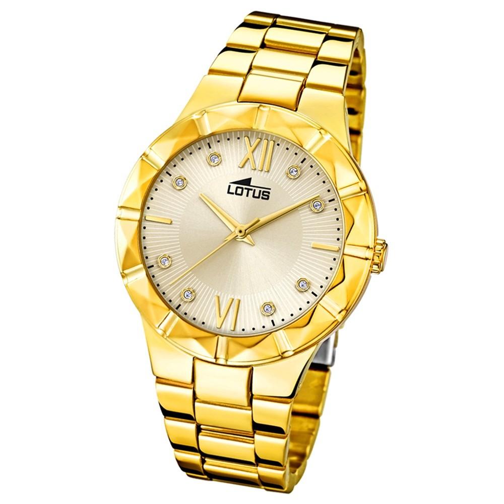 Lotus Damen-Armbanduhr Edelstahl gold 18417/2 Quarz Trendy UL18417/2